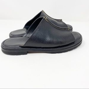 COLE HAAN Country Black Leather Open Toe Mule 7